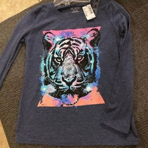 Coloring Book Long Sleeved Tiger Shirt for Girls